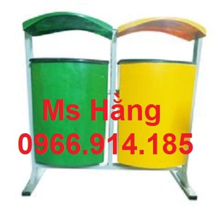 Cung cấp thùng rác cọc treo đôi giá rẻ