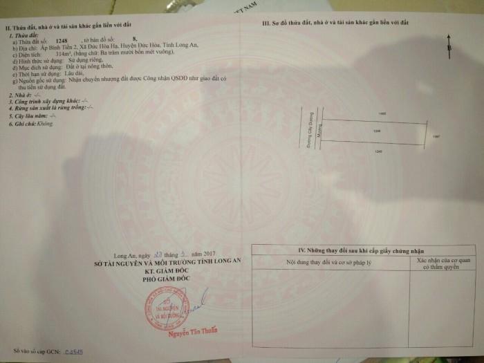 Chính chủ bán gấp nền đất 314m2, sổ hồng chính chủ, ngay KDC Tân ĐỨC