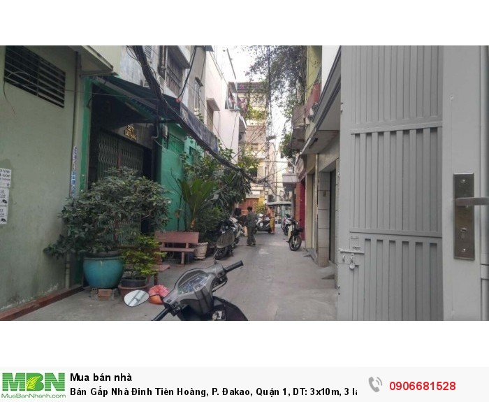 Bán Gấp Nhà Đinh Tiên Hoàng, P. Đakao, Quận 1, DT: 3x10m, 3 lầu