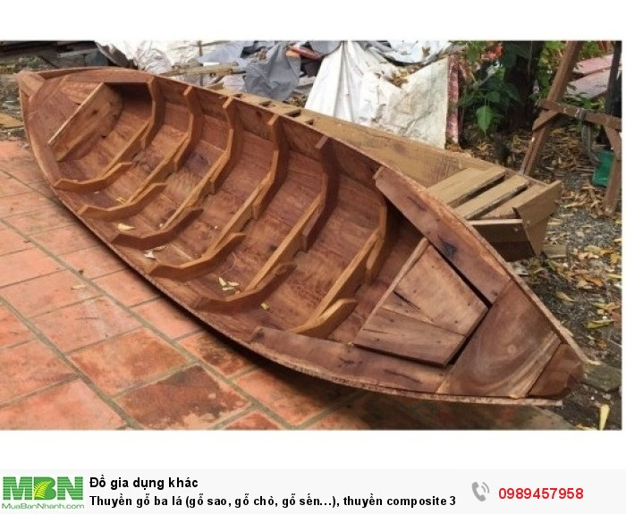 Nhận đóng thuyền gỗ ba lá (gỗ sao, gỗ chò, gỗ sến…), thuyền composite 3 lá, đóng thuyền theo yêu cầu1