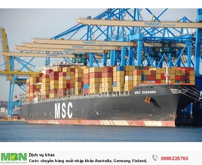 Cước chuyển hàng xuất nhập khẩu Australia, Germany, Finland, Scotland,
