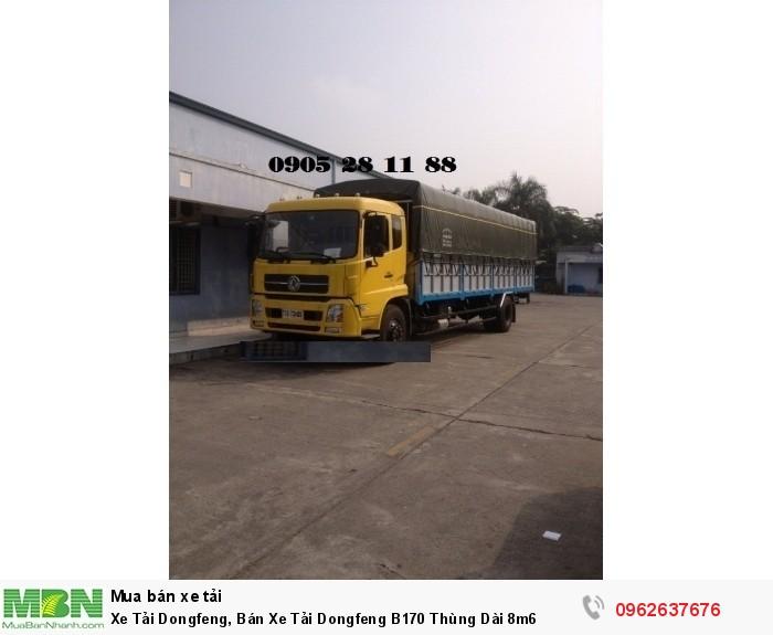 Bán Xe Tải Dongfeng B190 Thùng Mui Bạt Dài 8m6
