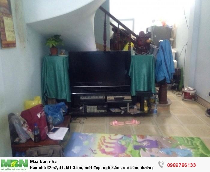 Bán nhà 32m2, 4T, MT 3.5m, mới đẹp, ngõ 3.5m, oto 50m, đường Lĩnh Nam, quận Hoàng Mai