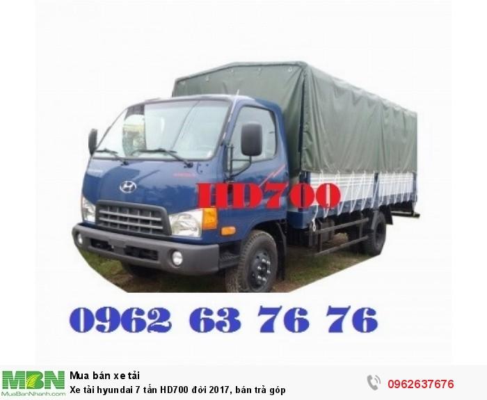 Xe tải hyundai 7 tấn HD700 đời 2017, bán trả góp 2