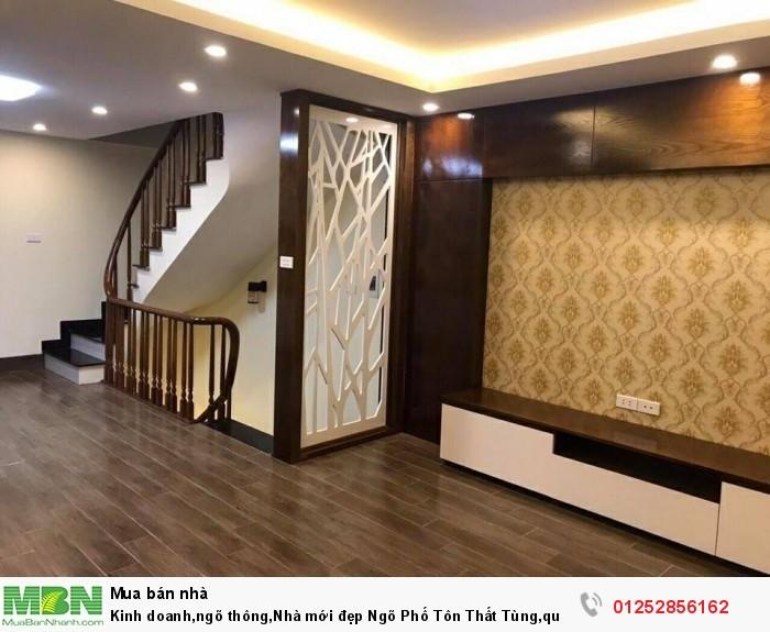 Kinh doanh,ngõ thông,Nhà mới đẹp Ngõ Phố Tôn Thất Tùng,quận Đống Đa,DT 38m2,4.6 tỷ.