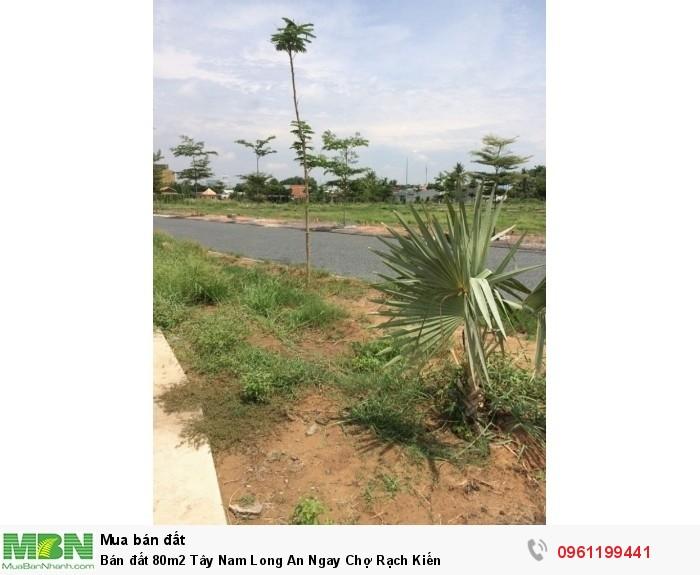 Bán đất 80m2 Tây Nam Long An Ngay Chợ Rạch Kiến