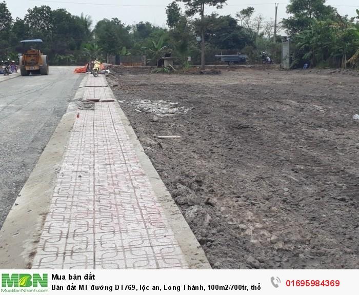 Bán đất MT đường DT769, lộc an, Long Thành, 100m2/700tr, thổ cư 100%
