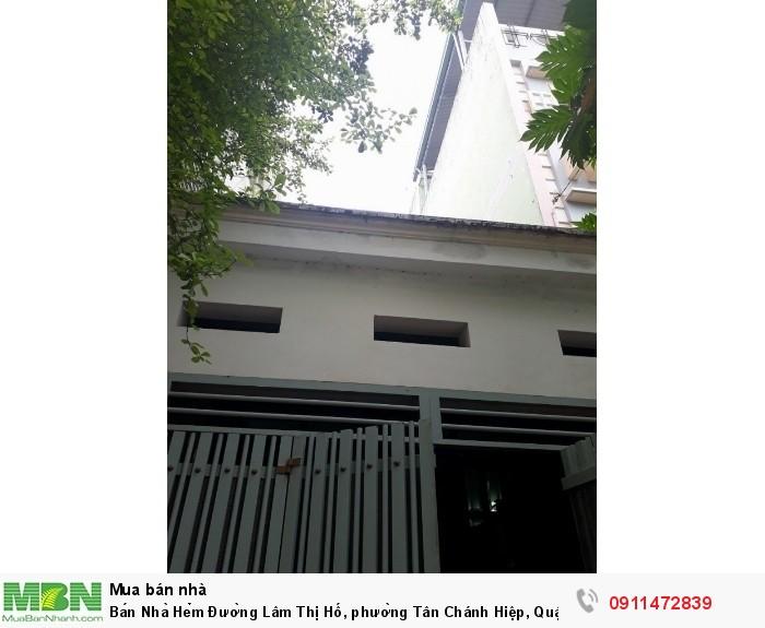 Bán Nhà Hẻm Đường Lâm Thị Hố, phường Tân Chánh Hiệp, Quận 12