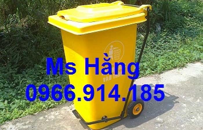 Phân phối thùng rác công nghiệp lớn có chân đạp nắp
