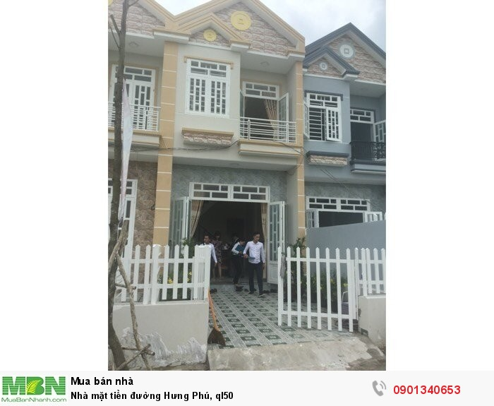 Nhà mặt tiền đường Hưng Phú, ql50