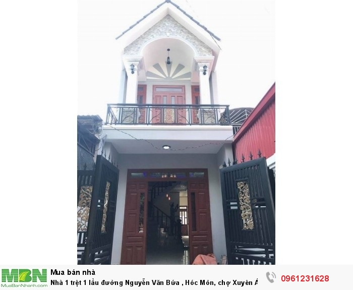 Nhà 1 trệt 1 lầu đường Nguyễn Văn Bứa , Hóc Môn, chợ Xuyên Á.