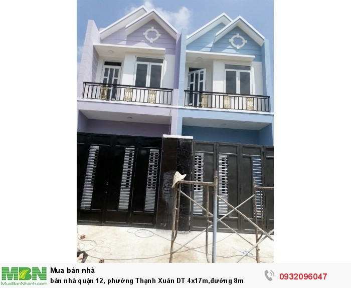 bán nhà quận 12, phường Thạnh Xuân DT 4x17m,đường 8m