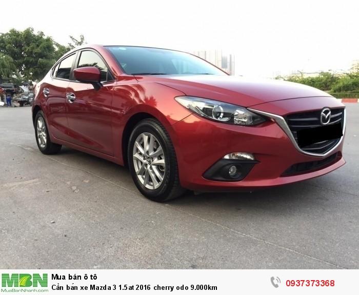 Cần bán xe Mazda 3 1.5at 2016 cherry odo 9.000km
