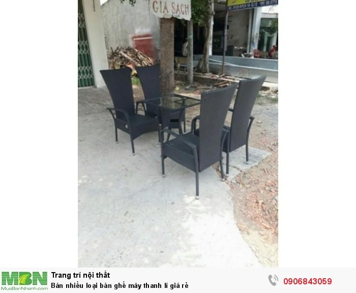 Bán nhiều loại bàn ghế mây thanh lí giá rẻ0