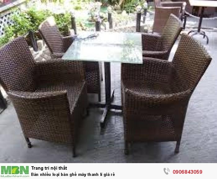 Bán nhiều loại bàn ghế mây thanh lí giá rẻ1
