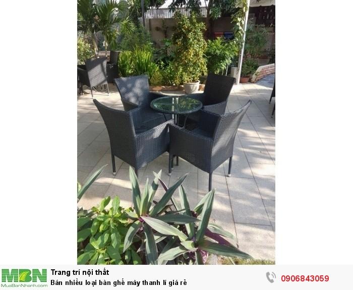 Bán nhiều loại bàn ghế mây thanh lí giá rẻ2