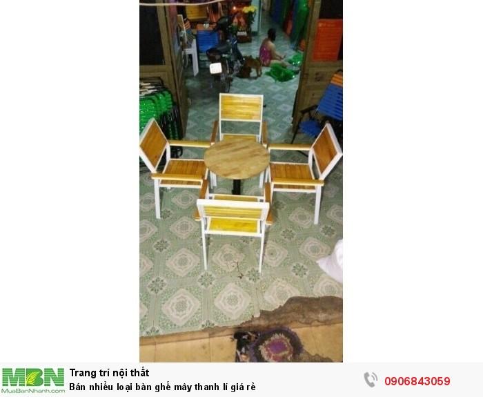 Bán nhiều loại bàn ghế mây thanh lí giá rẻ3