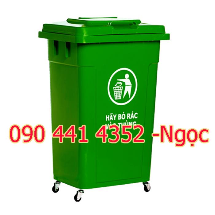 Thùng rác văn phòng , thùng rác nhựa có bánh xe, thùng rác có nắp bập bênh, thùng rác 60 lít, 90 lít tphcm