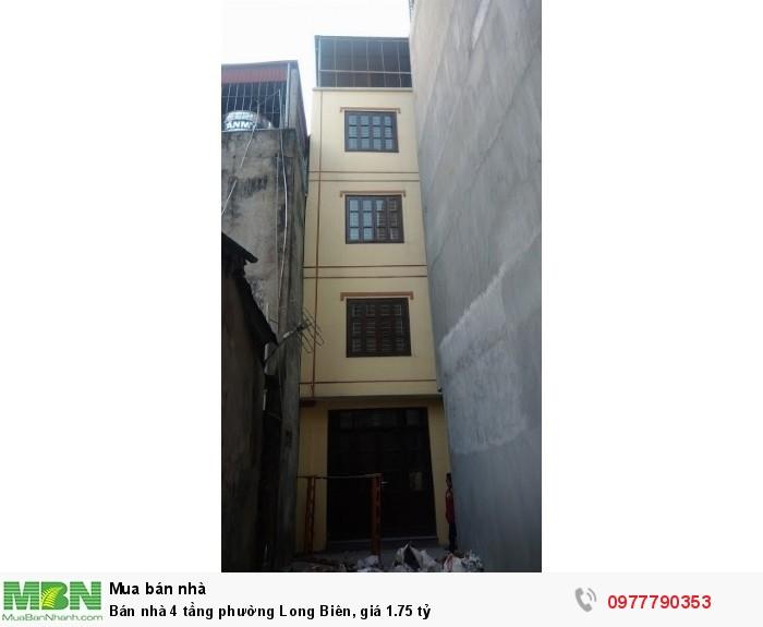Bán nhà 4 tầng phường Long Biên, giá 1.75 tỷ