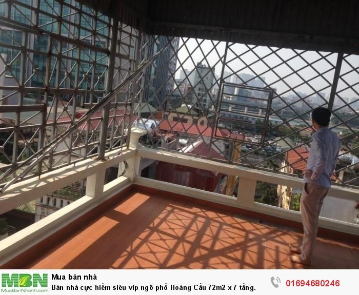 Bán nhà cực hiếm siêu vip ngõ phố Hoàng Cầu 72m2 x 7 tầng.