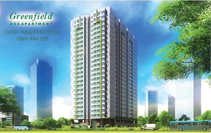 Bán dự án căn hộ Green Field giá chỉ từ 1.6 tỷ/2PN