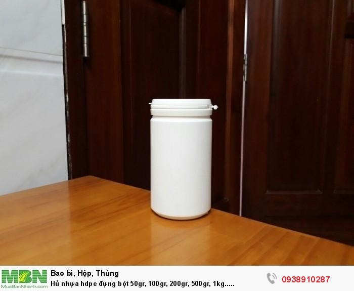 Hủ nhựa hdpe đựng bột 50gr, 100gr, 200gr, 500gr, 1kg.....