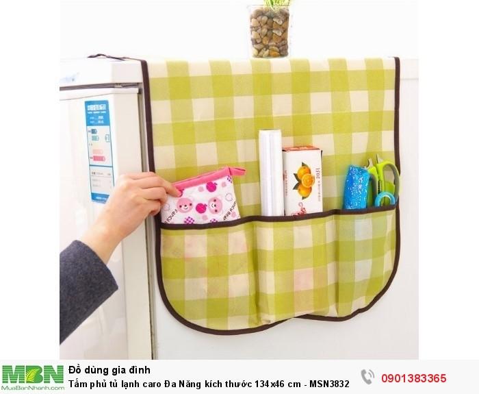 Được thiết kế vừa vặn để phủ lên đầu tủ lạnh, đồng thời che được cả hai mặt bên1