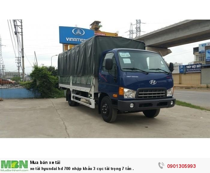 Xe tải Hyundai hd 700 nhập khẩu 3 cục tải trọng 7 tấn nhãn hiệu đồng vàng nỗi tiếng .