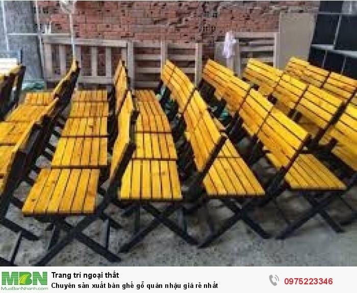 Chuyên sản xuất bàn ghế gỗ quán nhậu giá rẻ nhất..1