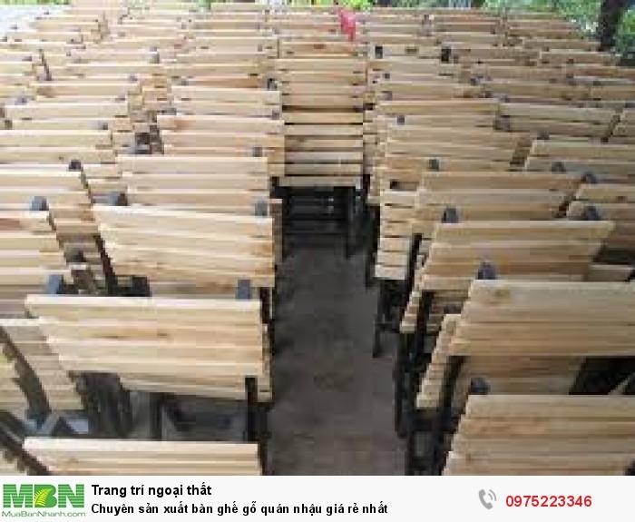 Chuyên sản xuất bàn ghế gỗ quán nhậu giá rẻ nhất..2