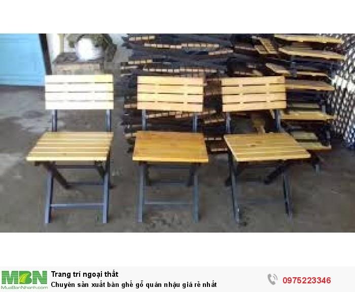 Chuyên sản xuất bàn ghế gỗ quán nhậu giá rẻ nhất..3