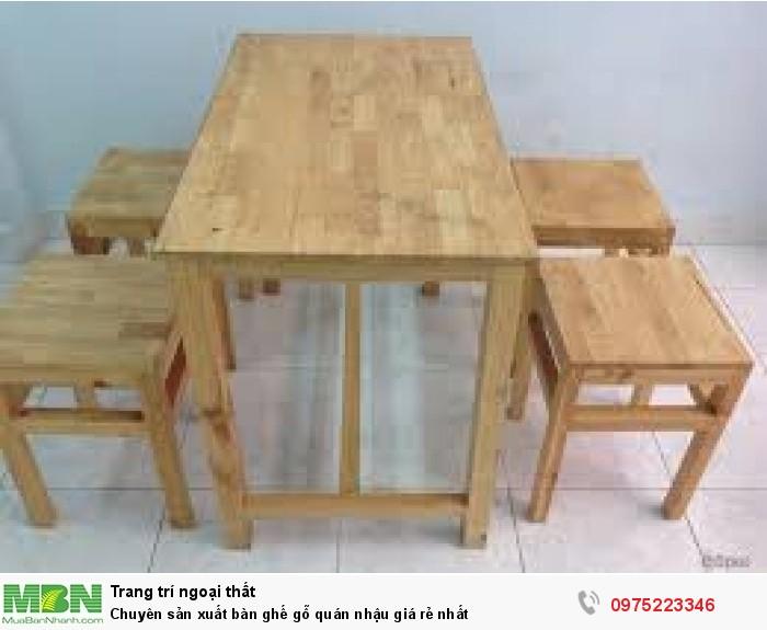 Chuyên sản xuất bàn ghế gỗ quán nhậu giá rẻ nhất..4