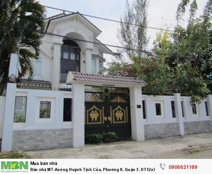 Bán nhà MT đường Huỳnh Tịnh Của, Phường 8, Quận 3. DT12x34m. hầm 7 lầu. giá 56 tỷ.