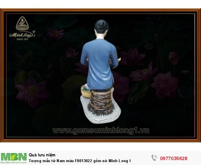 Tượng mẫu tử Nam màu F0013022 gốm sứ Minh Long I3