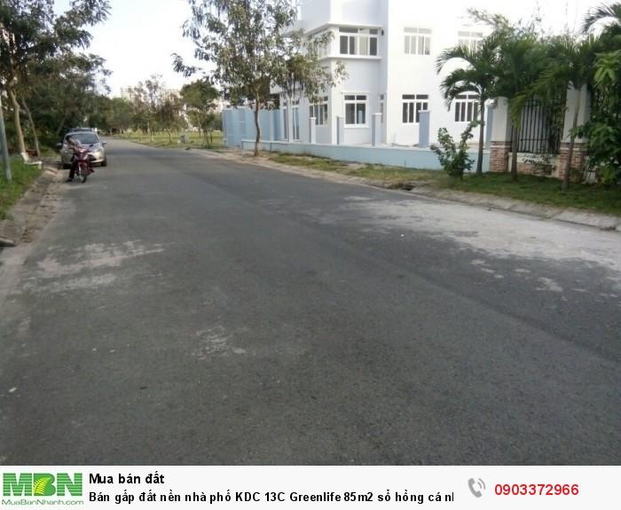 Bán gấp đất nền nhà phố KDC 13C Greenlife 85m2 sổ hồng cá nhân giá siêu rẻ