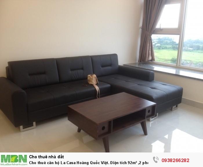 Cho thuê căn hộ La Casa Hoàng Quốc Việt. Diện tích 92m² ,2 phòng ngủ