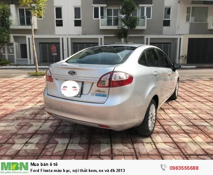 Ford Fiesta màu bạc, nội thất kem, sx và đk 2013 1