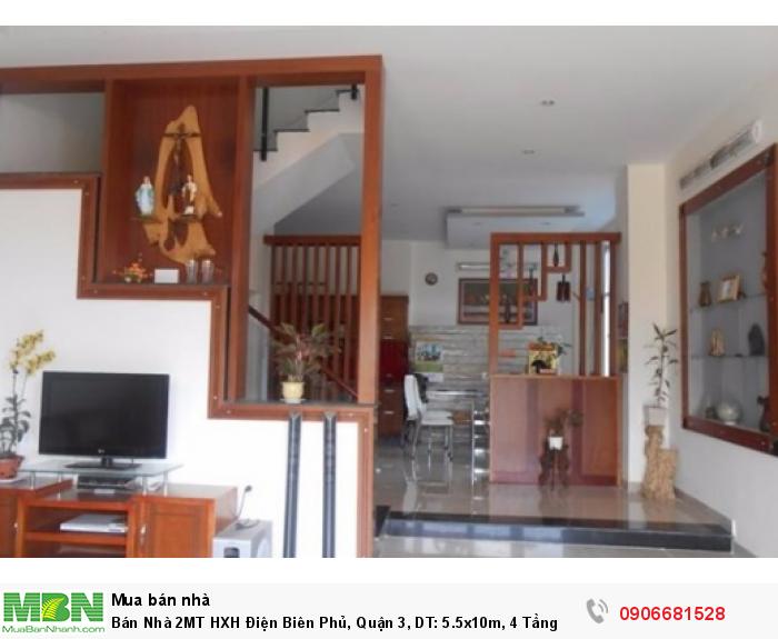 Bán Nhà 2MT HXH Điện Biên Phủ, Quận 3, DT: 5.5x10m,  4 Tầng