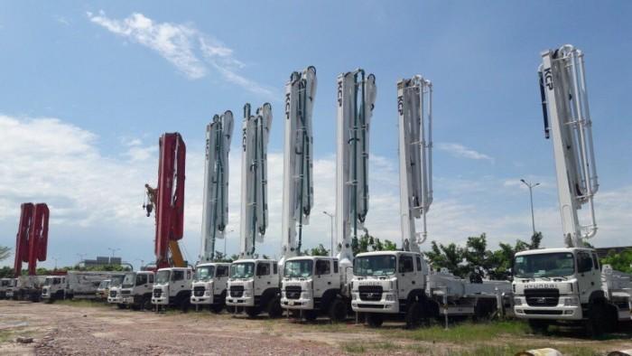 xe bơm bê tông KCP cần 28m-55m mới 100% 5