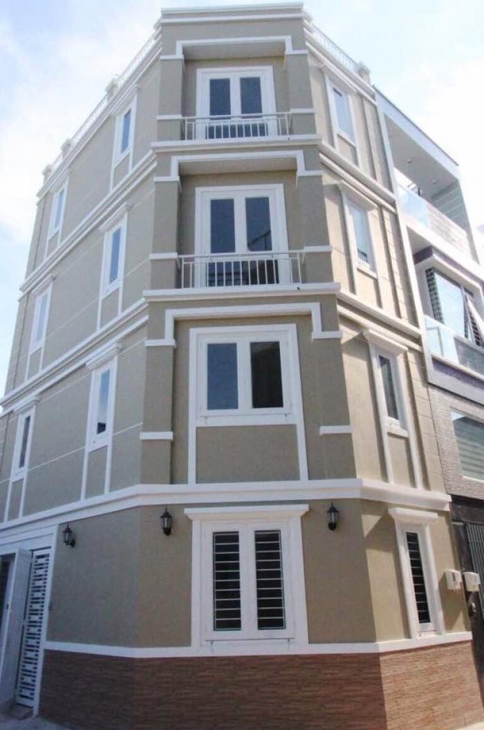 Bán gấp nhà Lô góc Bình Thạnh, Hẻm 5m, 6 PN
