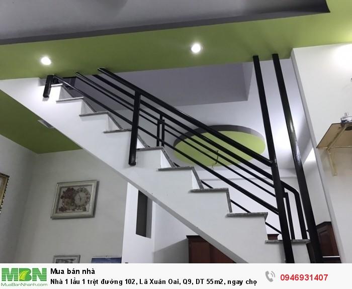 Nhà 1 lầu 1 trệt đường 102, Lã Xuân Oai, Q9, DT 55m2, ngay chợ TPA, SHR Đã hoàn công