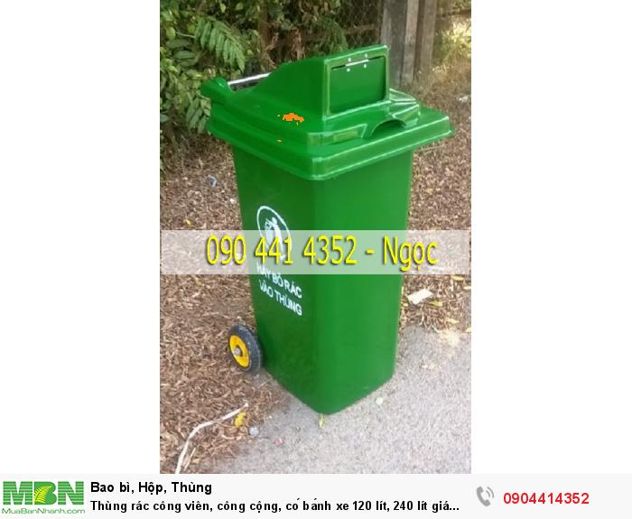 Thùng rác công viên, công cộng, có bánh xe 120 lít, 240 lít giá rẻ tại tphcm