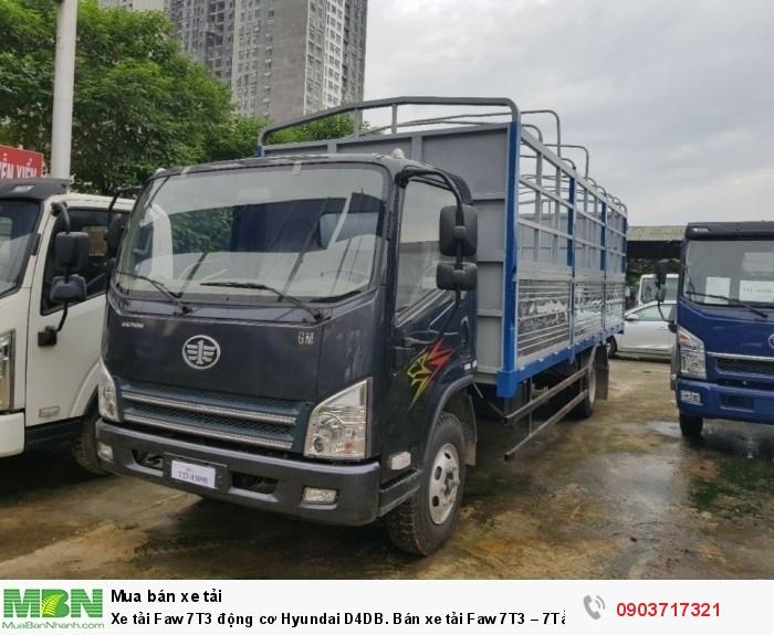 Xe tải Faw 7T3 động cơ Hyundai D4DB. Bán xe tải Faw 7T3 – 7Tấn3 – 7300kg thùng 6m3