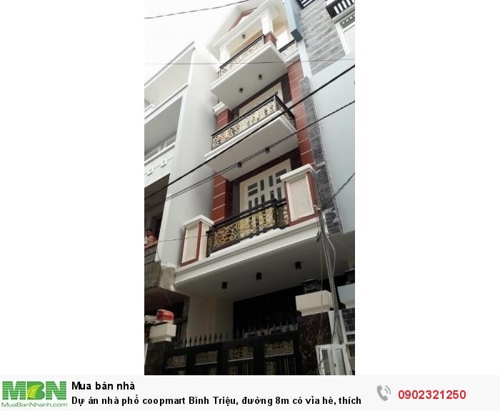 Dự án nhà phố coopmart Bình Triệu, đường 8m có vỉa hè, thích hợp mở văn phòng DT:60m