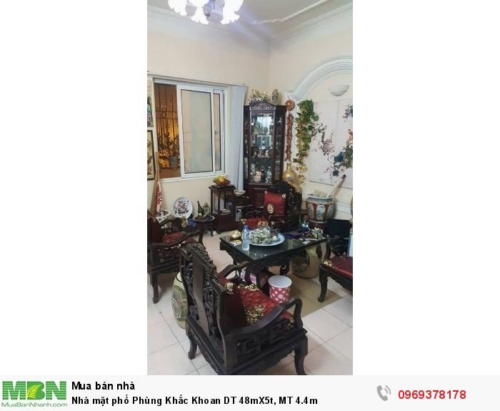 Nhà mặt phố Phùng Khắc Khoan DT 48mX5t, MT 4.4m