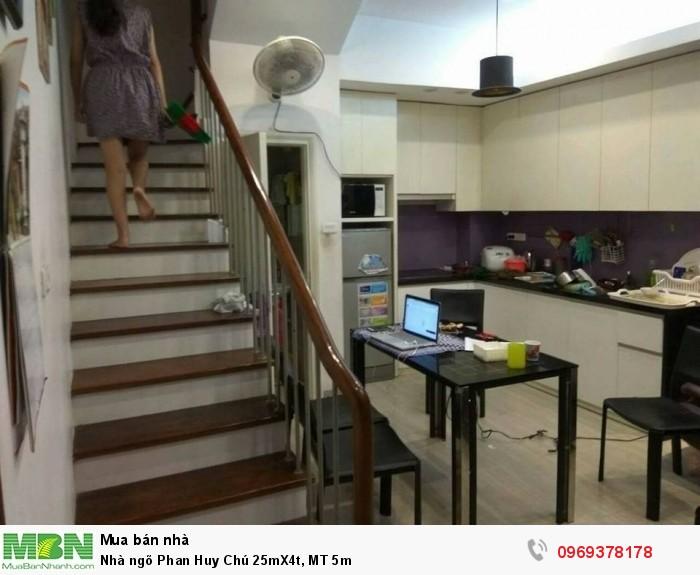 Nhà ngõ Phan Huy Chú 25mX4t, MT 5m
