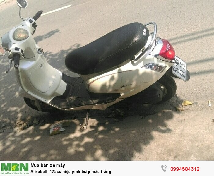 Alizabeth 125cc hiệu ymh bstp màu trắng