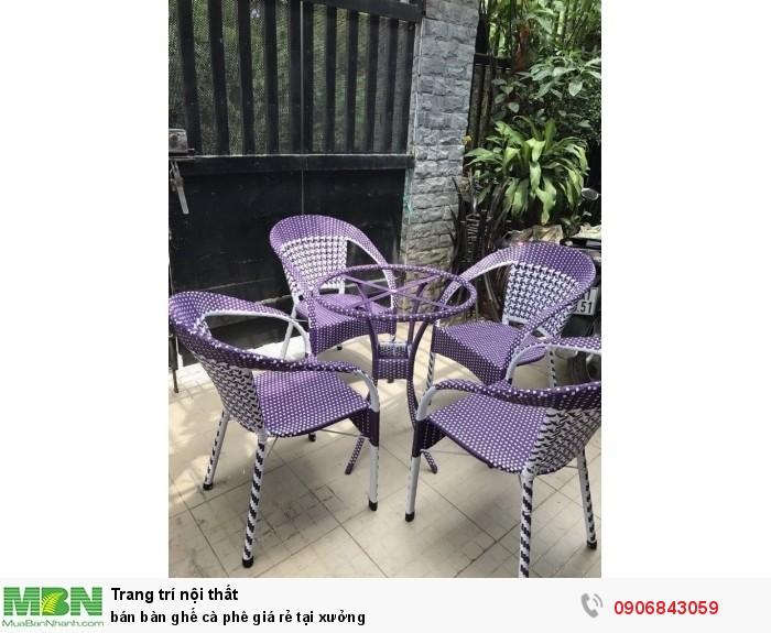 bán bàn ghế cà phê giá rẻ tại xưởng3