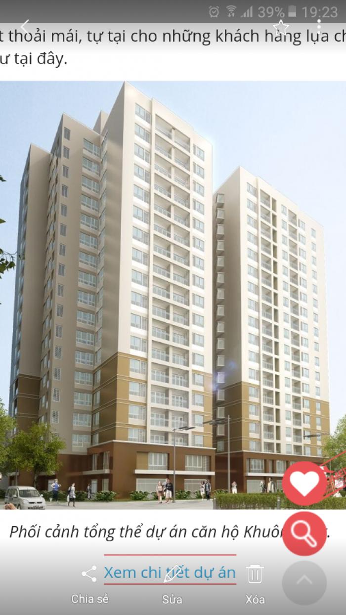Bán căn hộ chung cư Khuông Việt cạnh Đầm Sen