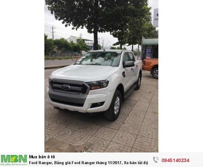Ford Ranger, Bảng giá Ford Ranger tháng 11/2017, Xe bán tải đột ngọt tăng giá.